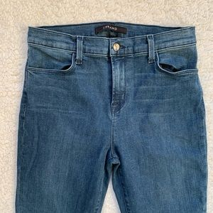 J Brand High Rise Zipper Ankle Skinny Jeans